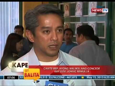 KB: Cavite Rep. Ayong Maliksi, nag-concede kay Gov. Jonvic Remulla