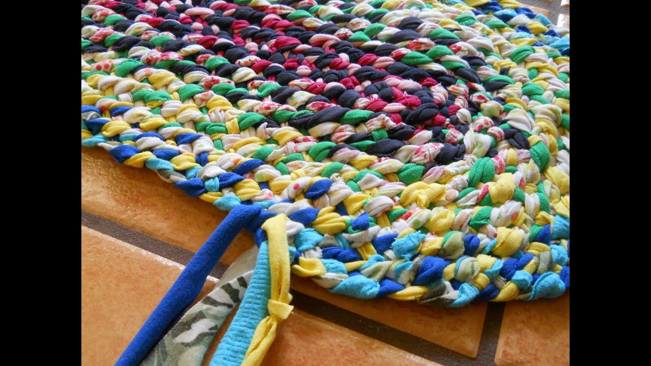 Коврики крючком из лоскутков ткани своими руками 95