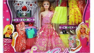 *SWEET GIRL* Baby Doll Beautiful Dress Set Unpacking for Kids