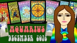 AQUARIUS  DECEMBER 2016 Tarot psychic reading forecast predictions free