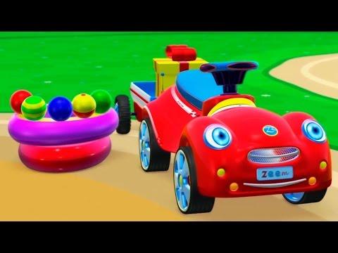 3Д мультфильм: Машинка и Вертолетик строят Детский Бассейн