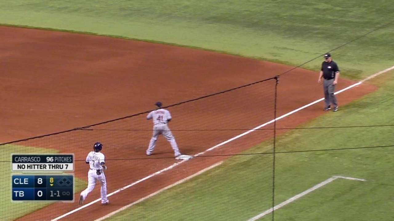 CLE@TB: DeJesus grounds out to second