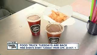Food trucks travel from Rochester for Larkin Square's food truck tuesday