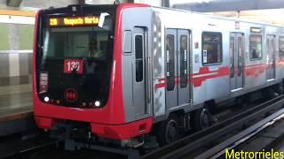 Trenes Alstom en Parque O'Higgins