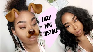 Lazy Wig Install!| NO CORNROW METHOD