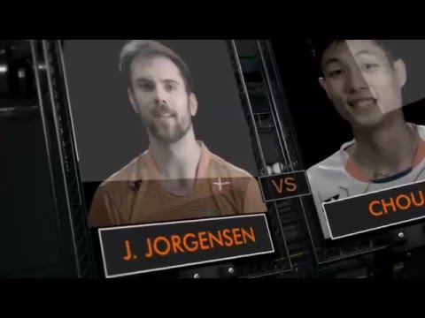 Yonex German Open 2016 | Badminton SF M5-MS | Jan O Jorgensen Vs Chou Tien Chen