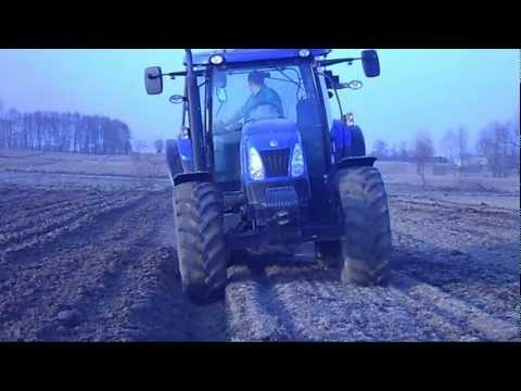 Wiosna w polu:P NH t6050/ AKPIL KM 80/ Zetor 7211/ escort 450/:)