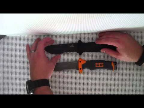 Gerber LMF 2 vs. Bear Grylls ultimate survival knife Part 1