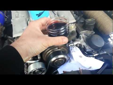 How to change your supercharger oil m113k-ml55 Mercedes Benz engines
