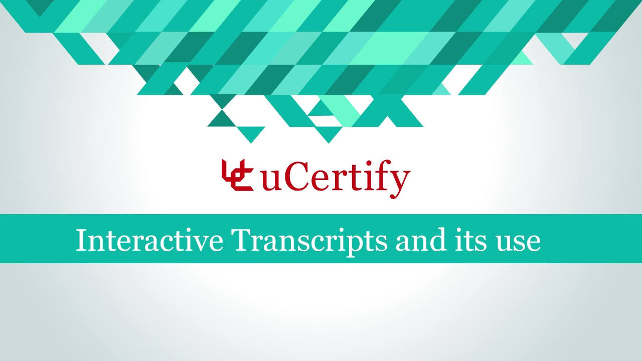 Interactive Transcripts and its use