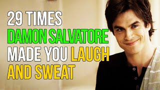 29 Times Damon Salvatore Made You Laugh And Sweat