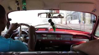 Another Taxi Ride in Havana Habana Cuba on the Malecon