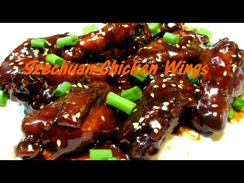 Beer Braised Szechuan Chicken Wings - Chinese Sichuan Chicken Wing Recipe