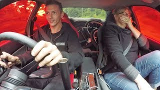 Scaring my Teacher in the 600HP R32 Skyline