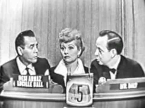 Lucille Ball + Desi Arnaz on Whats My Line