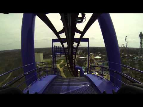 Banshee roller coaster at Kings Island Full POV