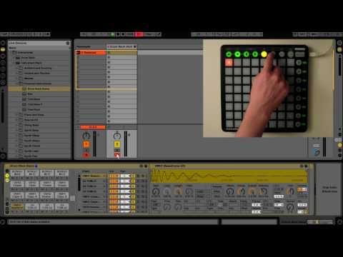 Novation Launchpad - User Mode 1 (Drum Rack)