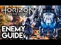 MEGA DINOSAUR ENEMY GUIDE!! Horizon Zero Dawn Gameplay   FULL GAME