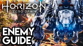 MEGA DINOSAUR ENEMY GUIDE!! Horizon Zero Dawn Gameplay - FULL GAME