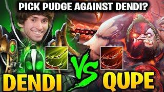DENDI Rubick vs QUPE Pudge: Who Hook Better ??! Dota 2