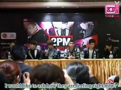 [TIME2SUB] 120224 2PM Nanjing Press Conference (eng sub)