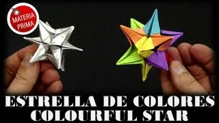 Estrella De Colores - Colourful Star. Origami