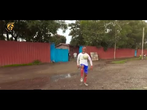 The Boy Who Can Drip a Football 8040 Times Without Letting It Fall - 8 ሺህ 40 ጊዜ ኳስ ሳይወድቅበት የሚያንጠባጥበው