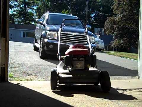5.5 hp Honda harmony HRR 216 lawn mower