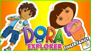 Dora the Explorer Finger Family, Papi Mami Diego Dora Boots Nursery Rhymes Lyrics Kids Songs