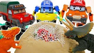 broken bridge Help Pororo Train! GO~ Robocar poli,PJ Mask! Toy Cartoons for Children