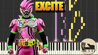 Download  FULL Excite  Kamen Rider ExAid OP Piano Tutorial Synthesia HD Cover