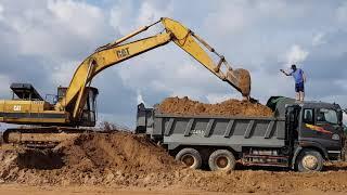 Máy Xúc CAT Xúc Đất Lên Xe Ben Máy Xúc Và Xe Ben Làm Việc | Excavator #12