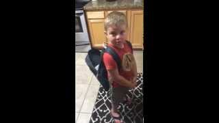 [So cute! 3 yo Brody wants a 7 on his forehead to get into school] Video