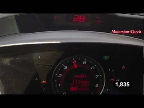 Honda Civic Type R 0-100 Acceleration Topspeed sound test
