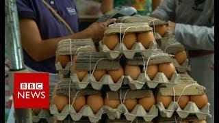 Venezuela crisis: the view from Caracas farmers' market - BBC News
