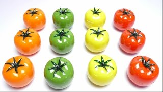 Tomatoes Play Slime Game Learn Color