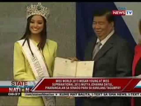 Megan Young at Mutya Johanna Datul pinarangalan sa Senado para sa kanilang tagumpay