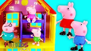 Peppa Pig Go To Bed MagicalDoll House with Paw Patrol Surprises