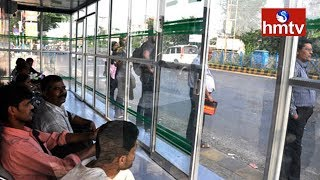 Passengers Express Happy On AC BUS Stand In Visakha | hmtv