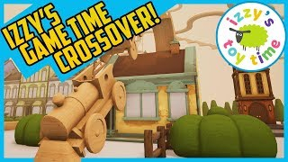 TRACKS THE TRAIN SET GAME! IZZY'S GAME TIME CROSSOVER! Fun Toy Trains for Kids!