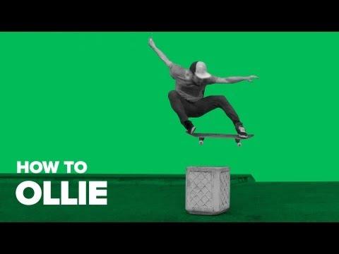 Как сделать ollie на скейте (How to ollie on skateboard)