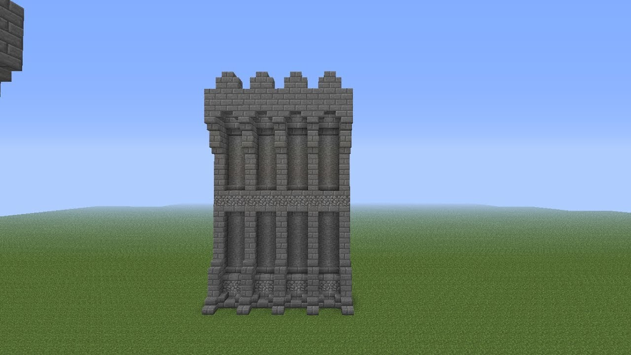 how to make a castle in minecraft pe ipad