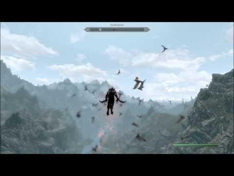 Skyrim DLC: Flying Over Skyrim As A Vampire lord