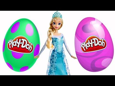 SURPRISE EGGS Episodes ★ Disney Frozen Barbie Play Doh Eggs 2015 Toy...
