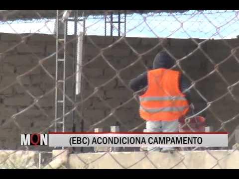 23/01/2015-19:20 EBC ACONDICIONA CAMPAMENTO