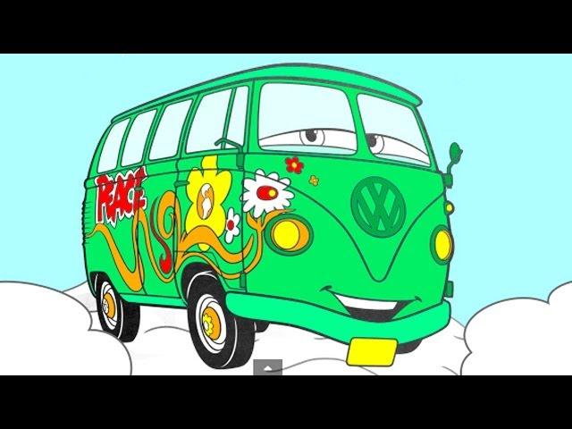 Раскраска из мультфильма тачки pixar cars
