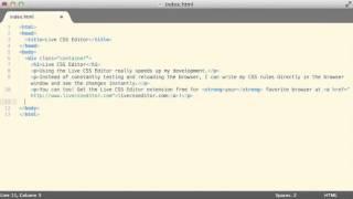 Live CSS Editor Usage Demo