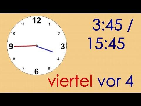 Deutsch lernen die Uhrzeit umgangssprachlich deutsche Untertitelthe colloquial time