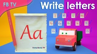 How to Learn & Write English Alphabets from Funny Bunny TV