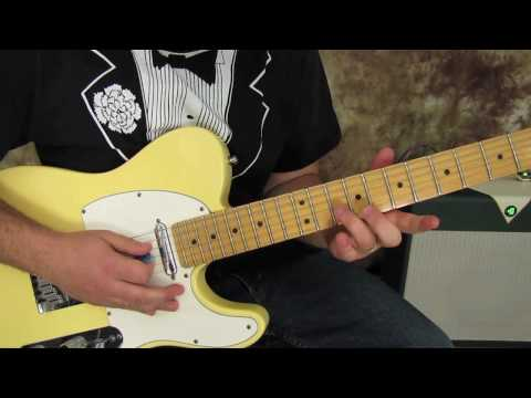 Rock And Blues Electric Guitar Solo Lesson - Blues Licks - Bending - Fender